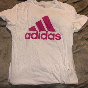 White short sleeve adidas top